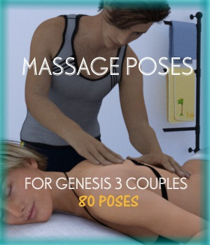 Massage poses for G3 COUPLES 3D Figure Assets jowolf999