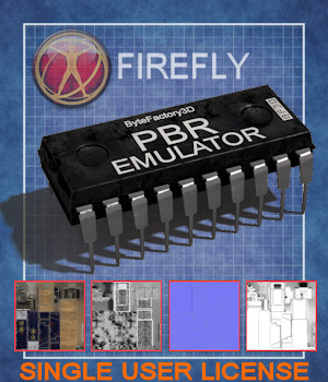 PBR-Emulator FIREFLY - Single User License 3D Figure Assets ByteFactory3D