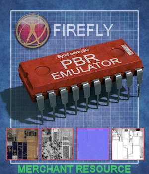 PBR-Emulator FIREFLY - Extended License Merchant Resource 3D Figure Assets Extended Licenses ByteFactory3D