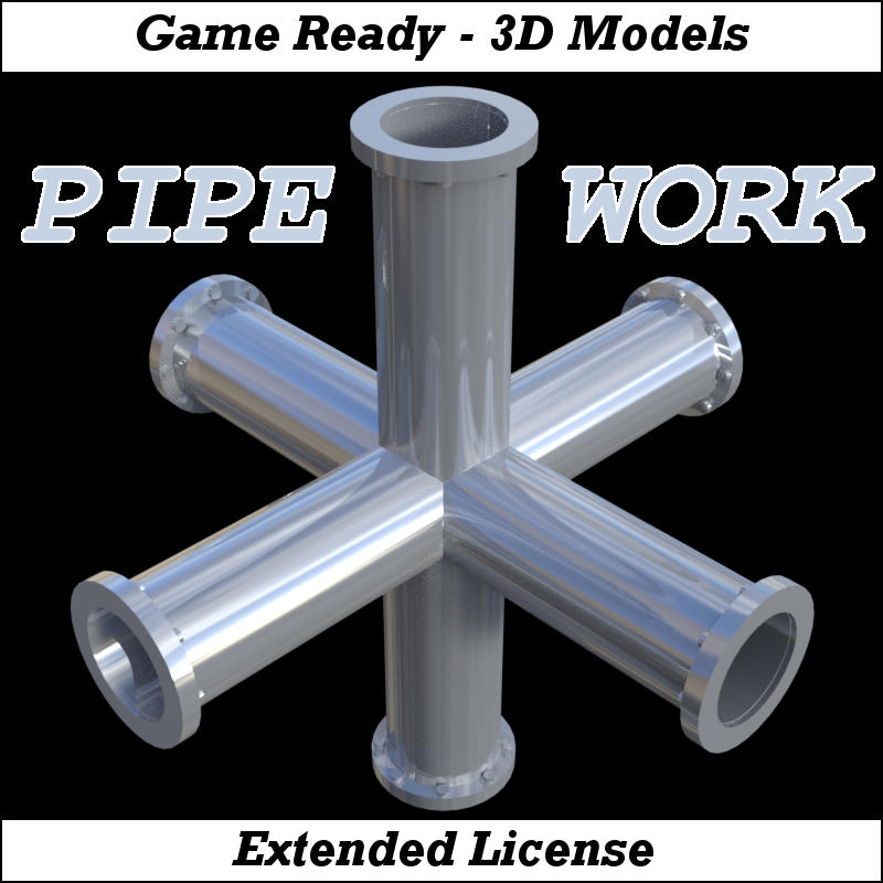 PIPE WORK Collection (FBX, DAE,OBJ, BLEND) Extended License