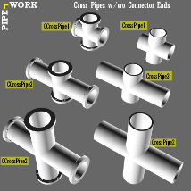 PIPE WORK Collection (FBX, DAE,OBJ, BLEND) Extended License image 3