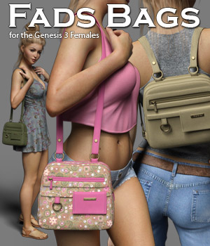 Fads Bags for the Genesis 3 Female 3D Figure Assets RPublishing