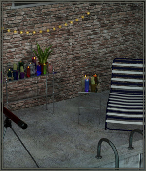 Rooftop Retreat for Daz 3D Models -Wolfie-