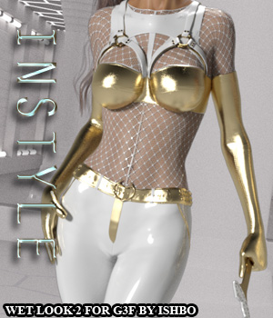 InStyle - Wetlook Outfit 2 for Genesis 3 Females 3D Figure Assets -Valkyrie-