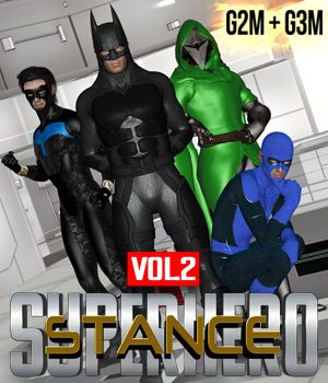 SuperHero Stance for G2M & G3M Volume 2 3D Figure Assets GriffinFX