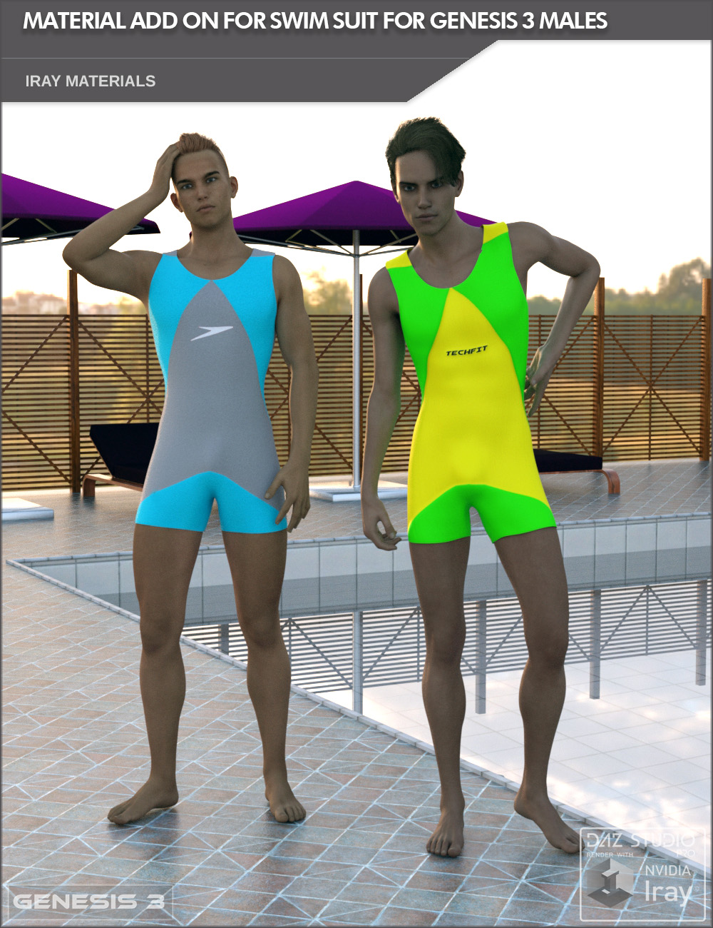 Add On for Male Swim Suit for Genesis 3 Males