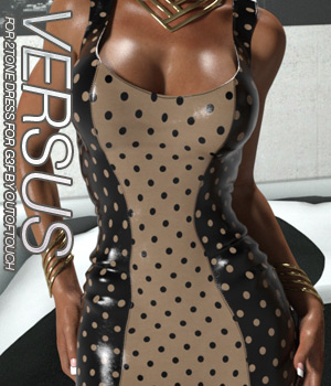 VERSUS - 2Tone Dress for Genesis 3 Females 3D Figure Assets Anagord