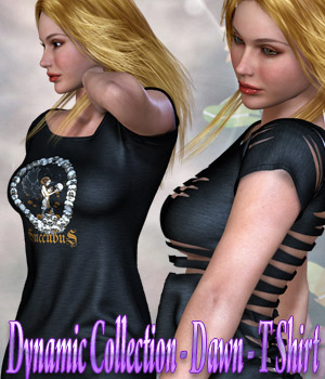 Dynamic Collection - T Shirt for Dawn 3D Figure Assets kaleya