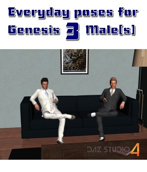 Everyday poses for Genesis 3 Males 3D Figure Assets aldebaran086