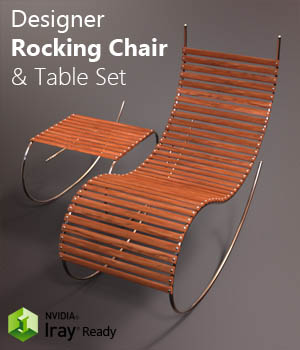 Designer Rocking Chair 3D Models wil3dthings