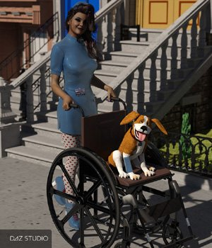 Wheelchair for DAZ Studio 3D Models VanishingPoint