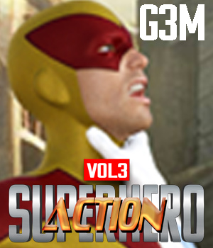 SuperHero Action for G3M Volume 3 3D Figure Assets GriffinFX