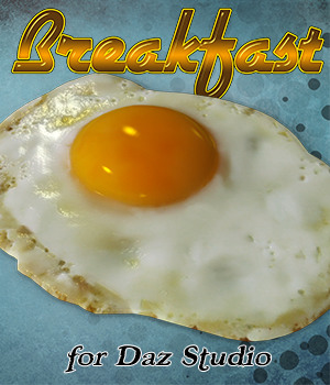 Exnem Breakfast for Daz Iray 3D Models exnem