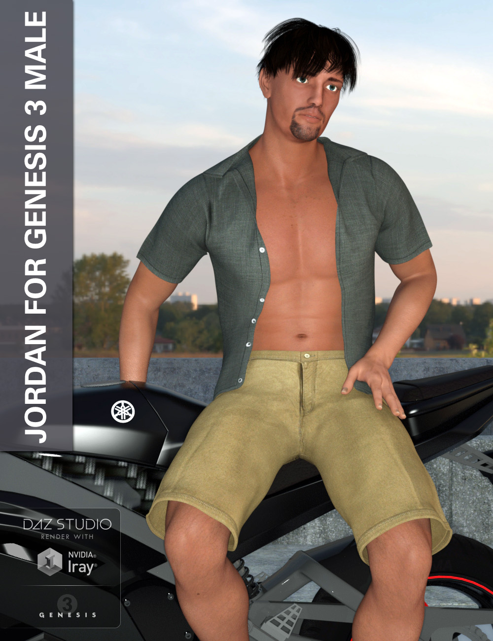Jordan - Male Character for Genesis 3 Male