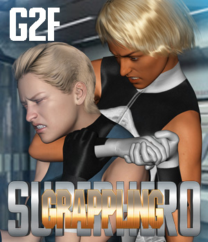 SuperHero Grappling for G2F Volume 1 3D Figure Assets GriffinFX