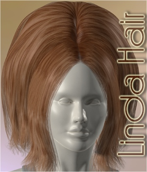 Linda Hair 3D Figure Assets 3Dream