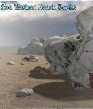 Photo Props: Sea Washed Beach Rocks - Extended License - Gaming - ShaaraMuse3D