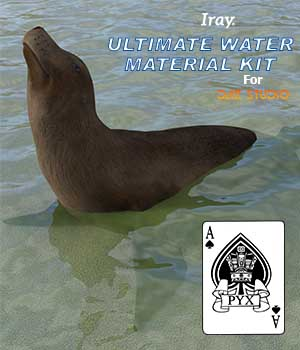 Ultimate water material kit 3D Figure Assets AcePyx