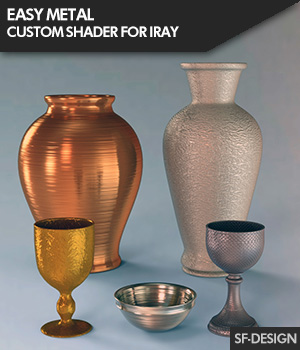 Easy Metal - Custom Metal and Metallic Shader for Iray 3D Figure Assets SF-Design