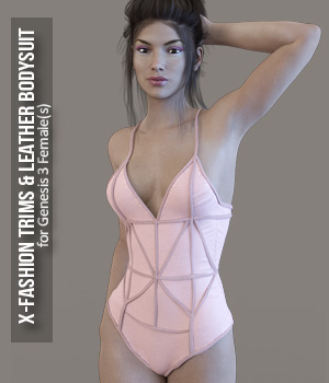 X-Fashion Trims & Leather for Genesis 3 Females 3D Figure Assets xtrart-3d
