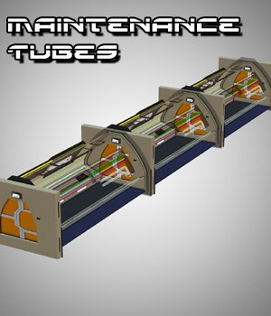 Maintenance Tubes - for Poser 3D Models VanishingPoint