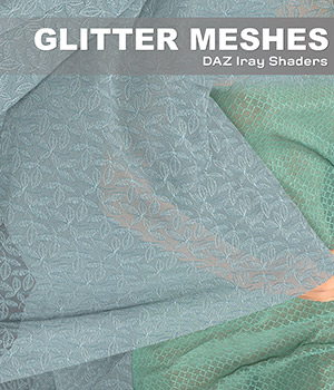 DAZ Iray - Glitter Meshes 2D Graphics Merchant Resources Atenais