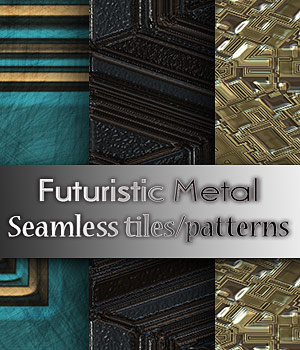 Futuristic Metal 2 Patterns 2D Graphics antje