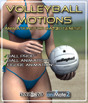 Volleyball Motions for Genesis 3D Figure Assets ka06059