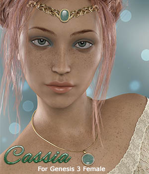 Cassia For Genesis 3 Female 3D Figure Assets Calico
