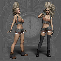 Echo Outfit for the Genesis 3 Female image 2
