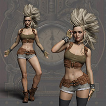 Echo Outfit for the Genesis 3 Female image 3