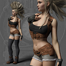 Echo Outfit for the Genesis 3 Female image 5