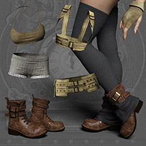 Echo Outfit for the Genesis 3 Female image 6