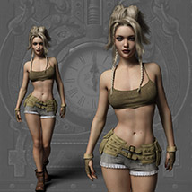 Echo Outfit for the Genesis 3 Female image 7