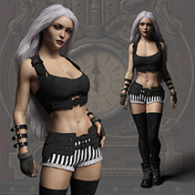 Echo Outfit for the Genesis 3 Female image 8