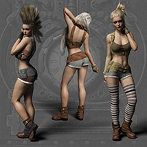 Echo Outfit for the Genesis 3 Female image 9