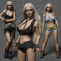 Echo Outfit for the Genesis 3 Female image 10