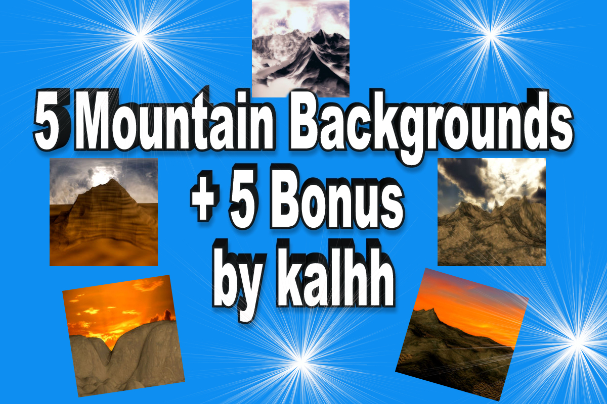 5 Mountain Backgrounds