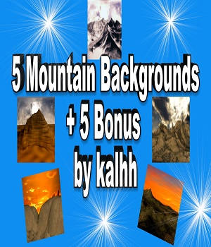 5 Mountain Backgrounds 2D Graphics kalhh
