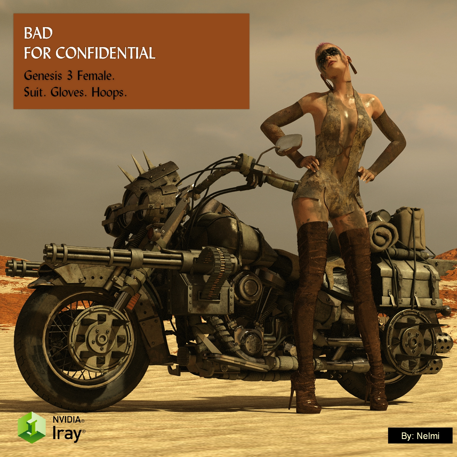 Bad for Confidential for Genesis 3 Female Texture Set