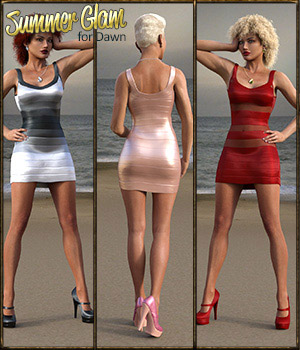 Summer Glam for Dawn  3D Figure Assets catatonia72