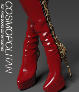 COSMOPOLITAN - Knee Boots For G3F 3D Figure Assets Anagord