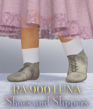 RA 900 Luna Shoe and Slipper 3D Figure Assets RAGraphicDesign