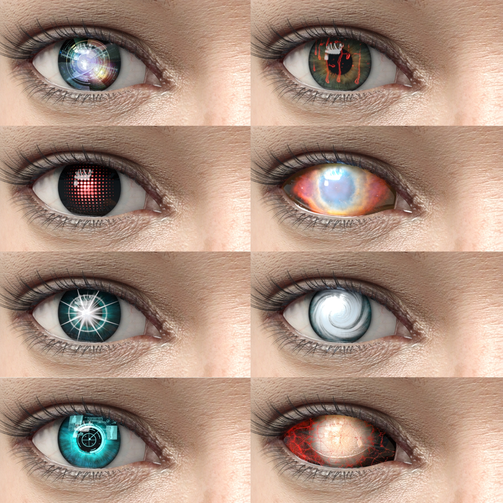 Special-Eyes for Daz Studio Iray 3D Figure Assets RedzStudio