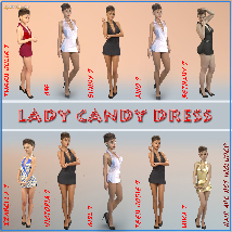 Lady Candy Dress for Genesis 3 Female image 3