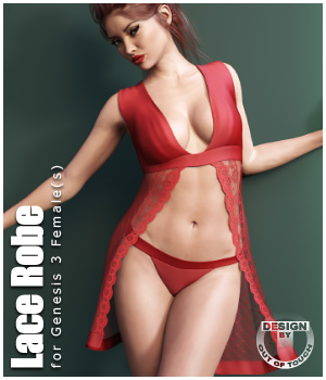 Lace Robe for Genesis 3 Female  3D Figure Assets outoftouch