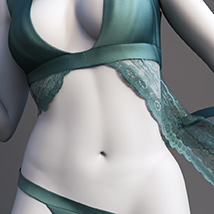 Lace Robe for Genesis 3 Female  image 3