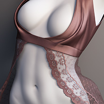 Lace Robe for Genesis 3 Female  image 4