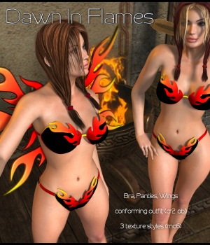 Dawn In Flames 3D Figure Assets JudibugDesigns