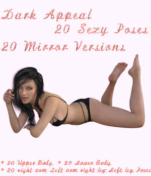 i3D Dark Appeal Pose Collection for G3F 3D Figure Assets iron3d